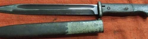 Ww2 waffen ss bayonet.
