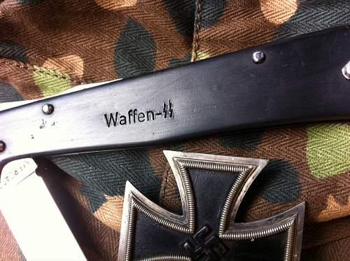 Mercator pocket knife Waffen SS marking