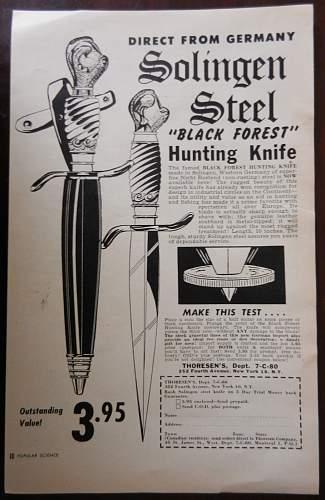 Often mistaken for a wartime blade, yet postwar...