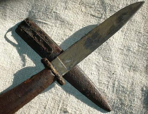 Puma-knife found in a derelict barn