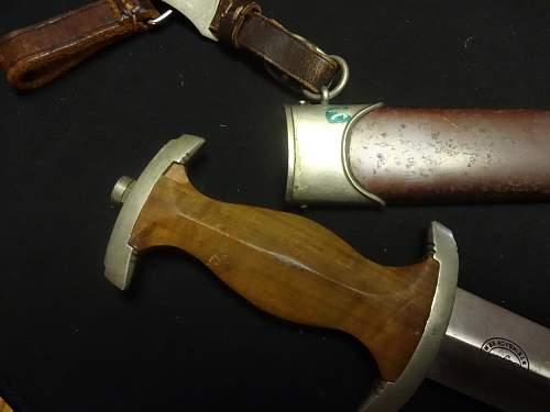 Rummage sale scores.  Daggers and dress bayonet