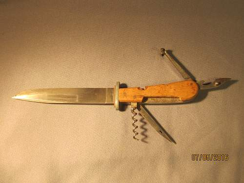 How rare is a Puma Boot Knife marked Patronenheber MG 34?