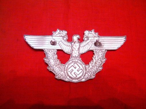 WWII German Police Shako Hat Insignia