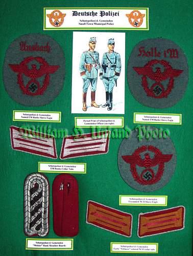 Police Cloth Insignia