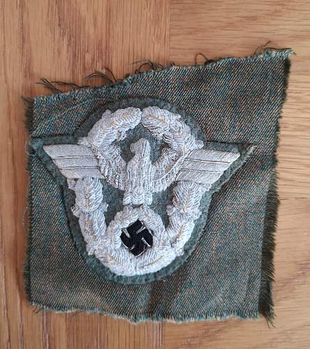 Salty uniform removed Officers sleeve eagle