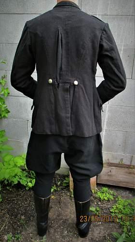 Original black police uniform  1930  approx