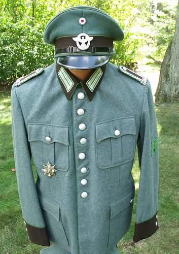 Schutzpolizei Wachtmeister Uniform
