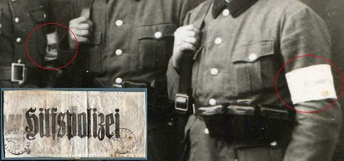 Hilfspolizei/Landwacht armband.