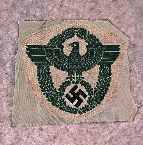 German Police Sport Shirt Eagle.