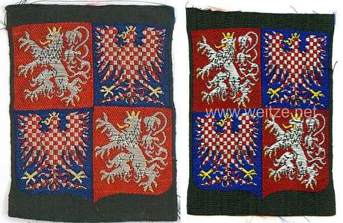 Protektorat Böhmen & Mähren Luftschutzpolizei sleeve shield.