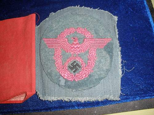 2 police eagles cut from tunic