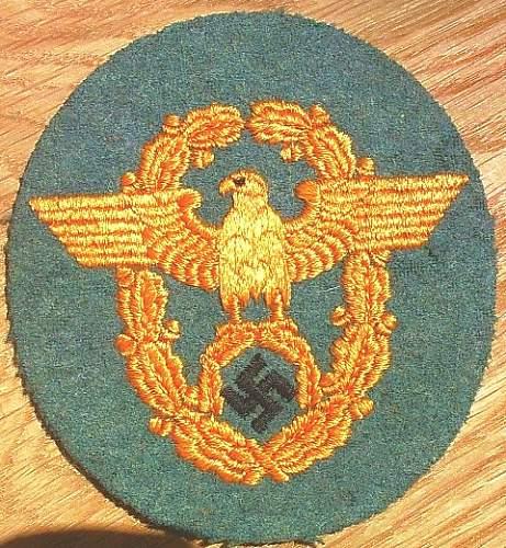 Click image for larger version.  Name:69) Gendarmie Arm Badge.jpg Views:182 Size:154.7 KB ID:178689