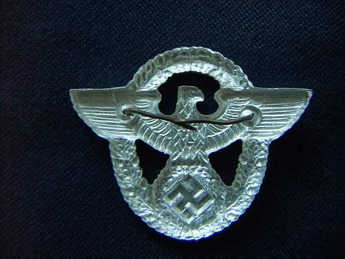 Polizei cap badge