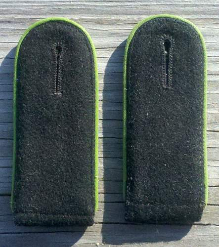 Pair of Waffen SS Polizei Div./Rifle rgt. shoulder boards ........nearly matched.