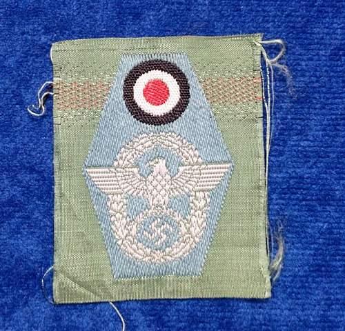 Polizei field cap insignia