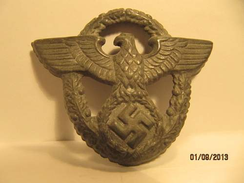 Polizei cap badge real or fake