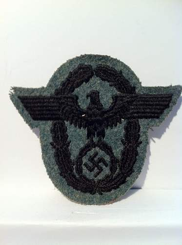 Polizei arm patch real or fake