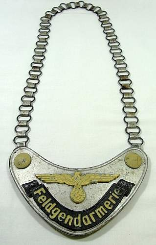 WWII German Army Police Gorget for review...Opinions Please??