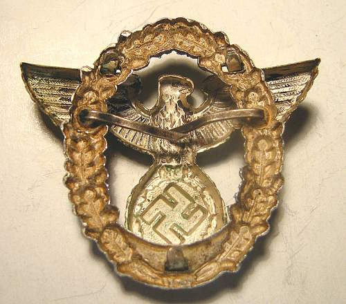 two-piece Police Officer's cap eagle