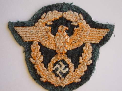 Police sleeve eagles