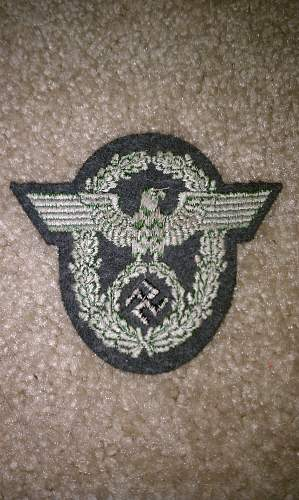 Proper ID for police patch needed
