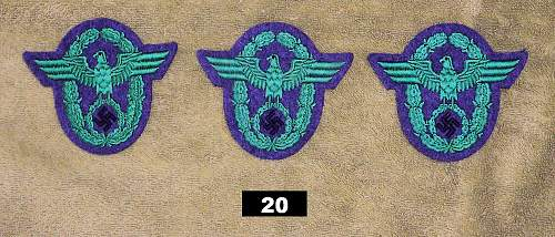 Police Sleeve Eagles