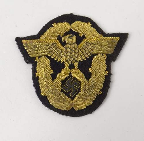 Police or Fire Police Gold Bullion Arm Patch - Original or Fake?
