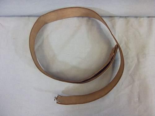 SS Polizei white belt genuine?