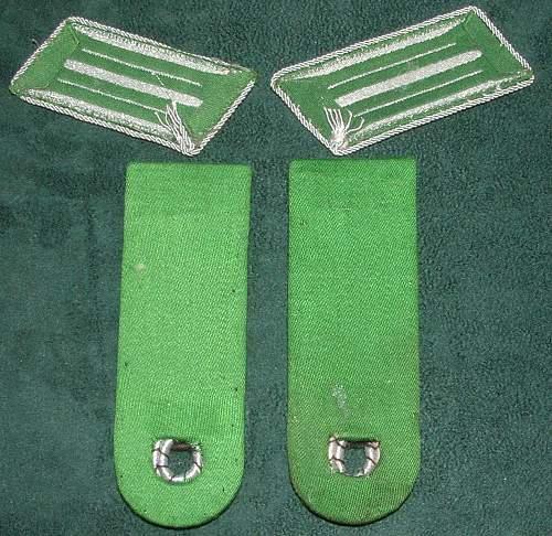 Schutzpolizei Shoulderboards & Collar Tabs