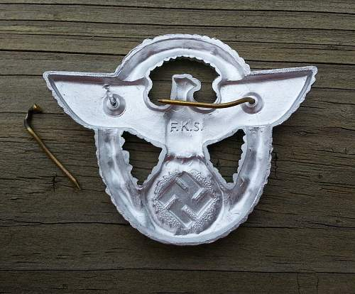 Second pattern, F.K.S.  maker marked aluminum cap eagle