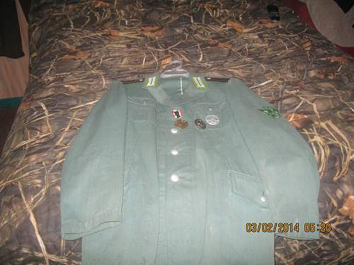 My original late war Schucpo summer tunic