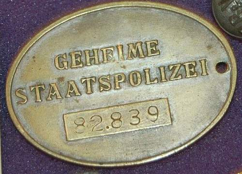 looking for comment on this Geheime Staatspolizei disc