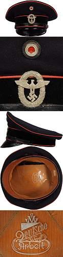 FEUERSCHUTZPOLIZEI NCO'S VISOR CAP,  opinions