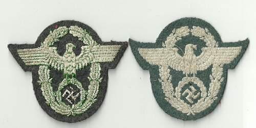 German police sleeve eagles ???