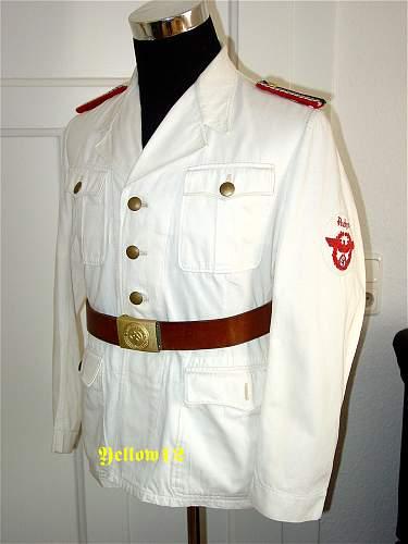 White traffic police tunic