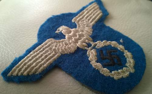 UNKNOWN GERMAN WW2 POLICE ?? arm eagle ..any ideas please ??