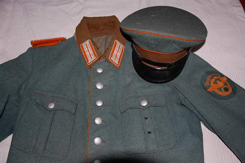 German Gendarmerie uniform and other things found on loft, wanna sell