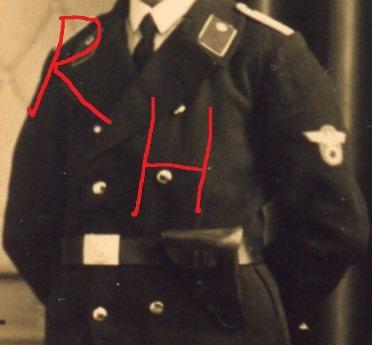 """Rare """"Kriegsmarine  Werftpolizei"""" French volunteer arm badge"""
