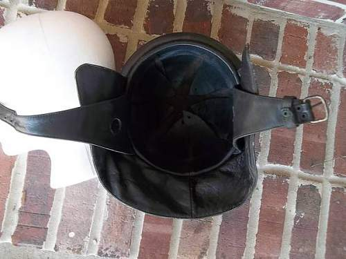 Leather Motorcycle Helmet From Police?