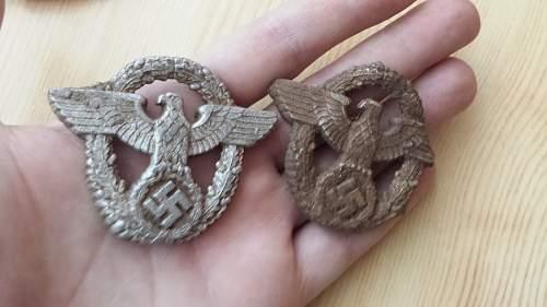 police cap badge eagle with swastika