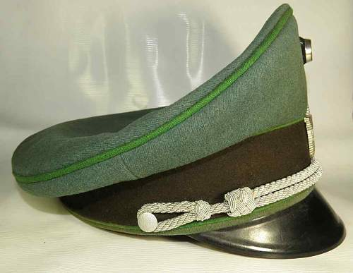 Third Reich Ordnungspolizei officer's visor hat