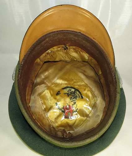 Third Reich Ordnungspolizei officer's visor hat