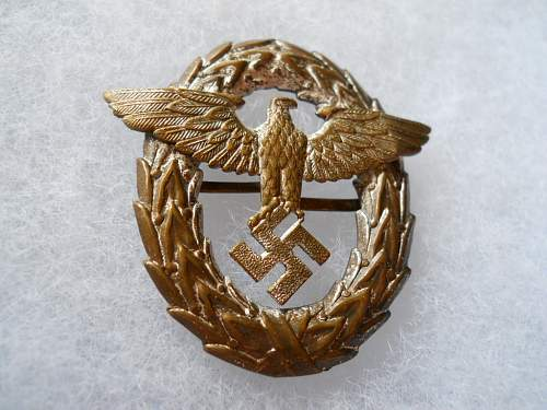 Early,tombak Polizei iCal insignia for review