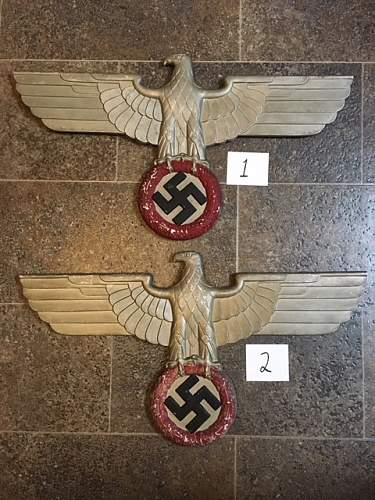 Pair of Reichsbahn Eagles with Questionable Paint