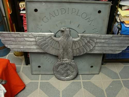Train Carriage Eagle Plaque