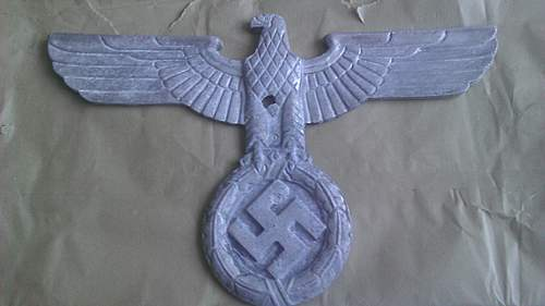 """Large 15"""" Metal Eagle, Opinions needed please."""
