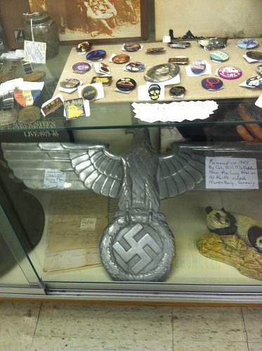DRB Railway Eagle in Antique Store