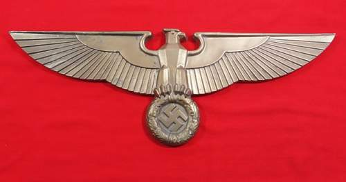 German Railroad Eagle, Dont know if they are original or reproductions.