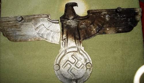 """war damaged"" 24 inch rail eagle Opinions please"