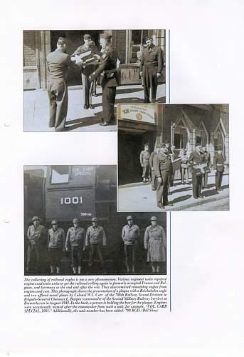 NEW BOOK: Third Reich Reichsbahn Eagles